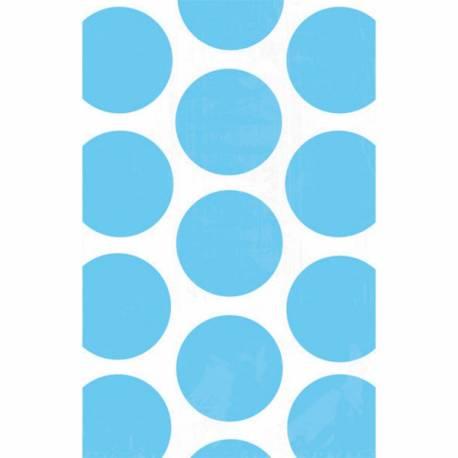 10 sacs en papier pois bleus pour confiseries Dimensions : 18 cm x 10.7 cm