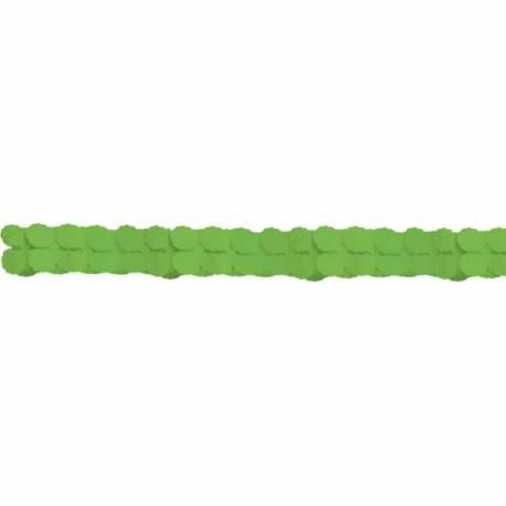 Guirlande en papier de couleur verteidéal pour la décoration de vos salles d'anniversaire, mariage, baptème et Candy bar Longueur :...