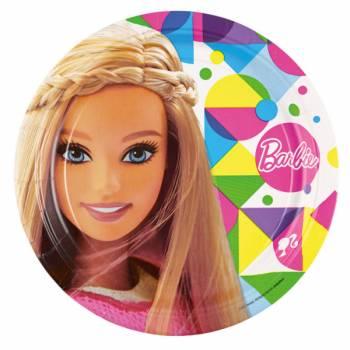 8 Assiettes Barbie Pop
