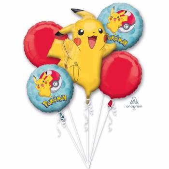 Bouquet ballons hélium Pokémon