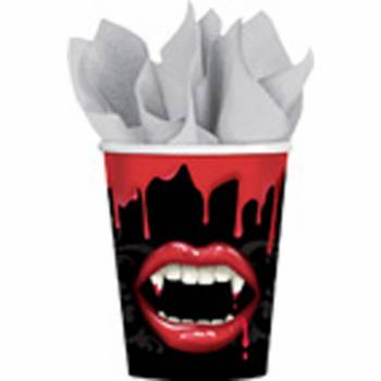 8 Gobelets halloween Vampire