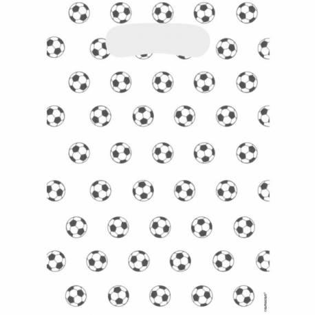 8 Sachets de foot party en plastique Dimensions: 18cm x 13cm