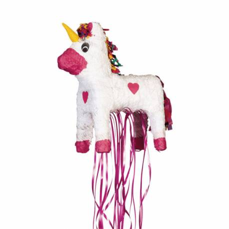 Pinata Licorne pour la décoration anniversaire de votre enfant. Dimensions: 45cm x 35cm