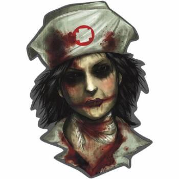 Décor en carton infirmière zombie