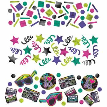 Confettis de table 80's