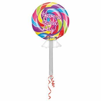Ballon Happy Birthday sucette