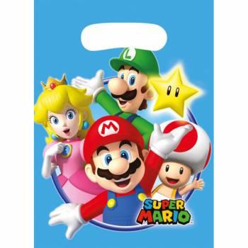 8 Sachets de fête Mario Bros