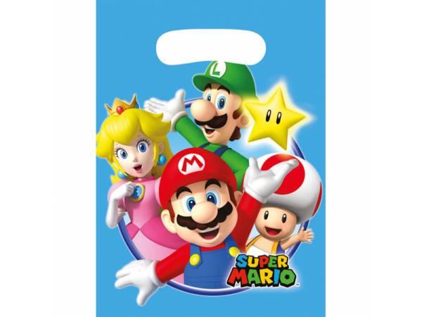 8 Sachets de fête Mario Bros- deco anniversaire