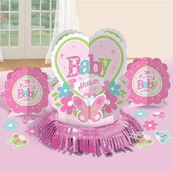 Kit décors de table Welcome Baby Girl