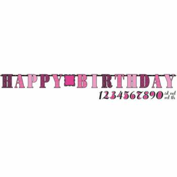 Banderole Happy Birthday Fabulous girly