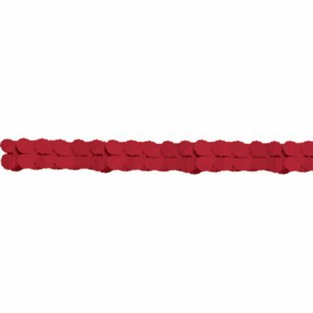 Guirlande en papier de couleur rougeidéal pour la décoration de vos salles d'anniversaire, mariage, baptème et Candy bar Longueur :...
