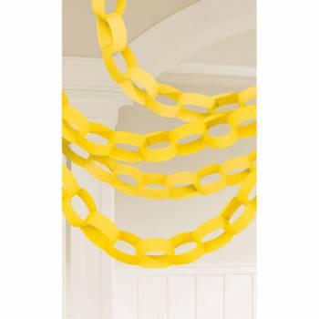 Guirlande chaîne en papier jaune