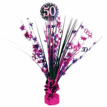 Centre de table pétillant pink 50ans