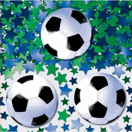 Confettis foot pour la déco de votre table d'anniversaire sur le thème du foot Paquet de 14 g
