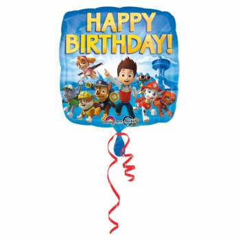 Ballon carrée Pat Patrouille Happy Birthday