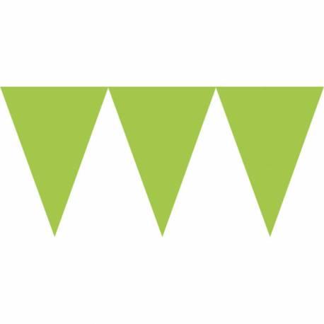 Guirlande en papier de fanions tendance de couleur verteidéal pour la décoration de vos salles d'anniversaire, mariage, baptème et...