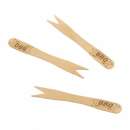 20 Mini brochettes en bambou pour vos barbecue party, idéal pour réaliser vos brochettes de viandes, légumes et fruits !