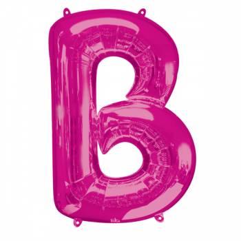 Mega Ballon Hélium lettre B fuschia