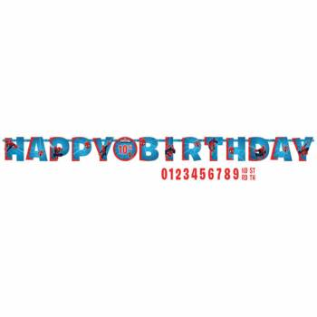Banderole Happy Birthday Spiderman à personnaliser