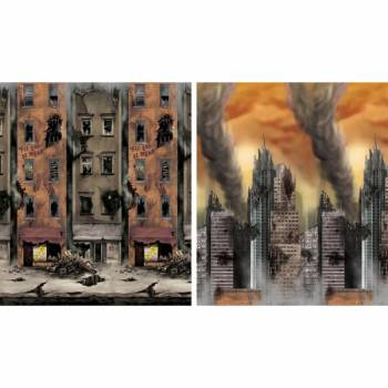 Kit ambiance mural ville détruite