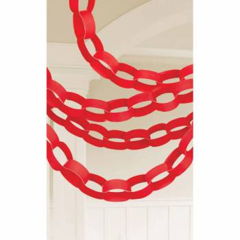 Guirlande chaîne en papier rouge