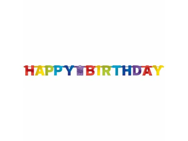 Banderole Happy Birthday coloré