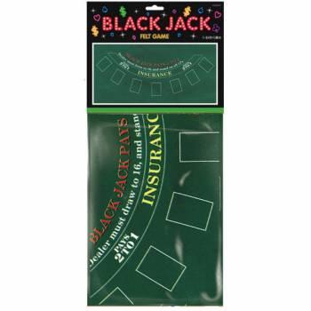 Nappe Black Jack en feutre