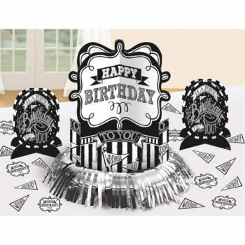 Kit décos de table Happy Birthday ardoise