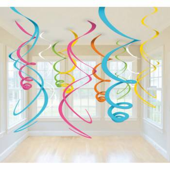 12 Suspensions swirl multicolore