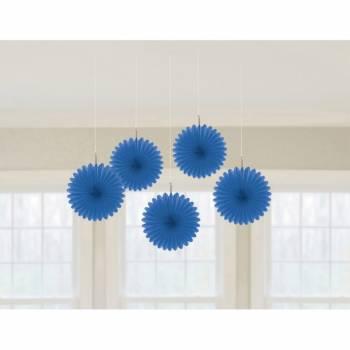 5 Suspensions éventail bleue