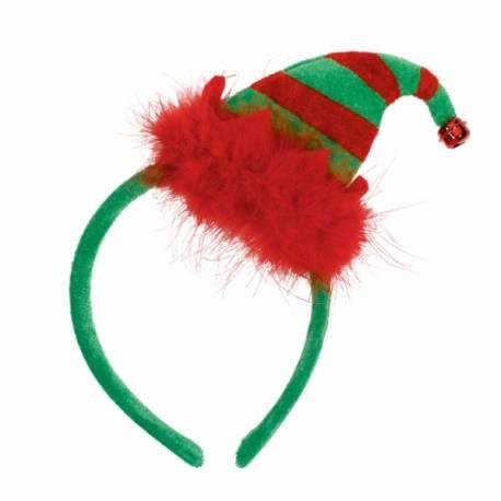 Serre tête Mini bonnet de lutin 23 cm x 12 cm