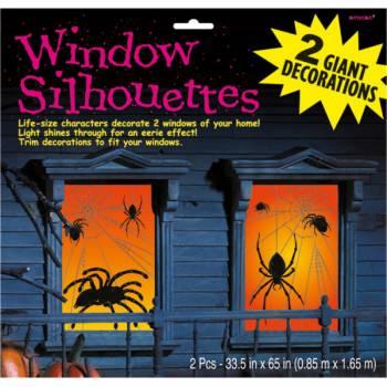 2 Décors de fenêtre géants Araignées