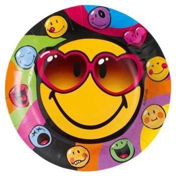 8 Assiettes Smiley