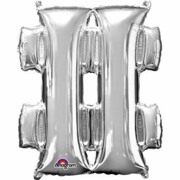 Mega Ballon Hélium hashtag argent