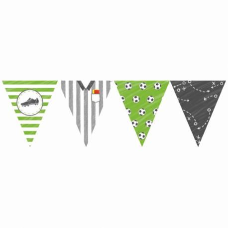 Guirlande de fanions foot party idéal pour la décoration d'un anniversaire Dimensions : 4 mètres x 19cm