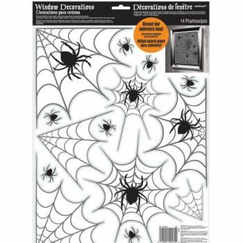 Stickers vynil fenêtre toile d'araignée