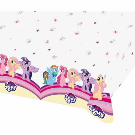 Nappe Mon petit poney en plastiquepour la décoration de table d'anniversaire de votre fille. Dimensions : 120 cm x 180 cm