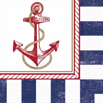 16 Serviettes Maritime