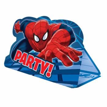 8 Cartes invitations Spiderman