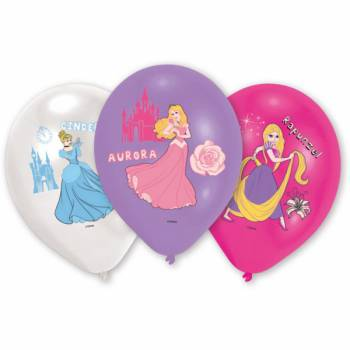 6 Ballons Princesses Disney quadri