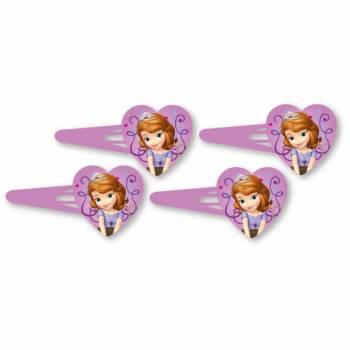 4 barettes Disney Sofia