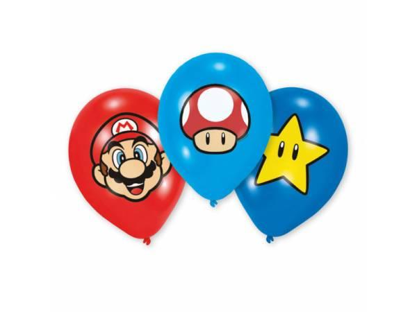 Ballons latex quadri Mario Bros- deco anniversaire
