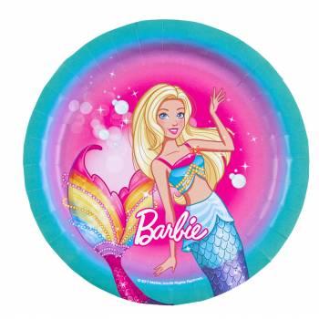 8 Assiettes à dessert Barbie Licorne
