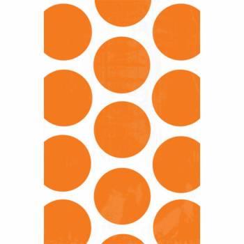 10 sacs en papier pois orange