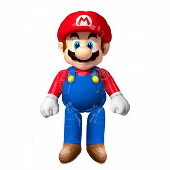 Ballon Méga Géant hélium Super Mario debout