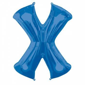 Mega Ballon Hélium lettre X bleu