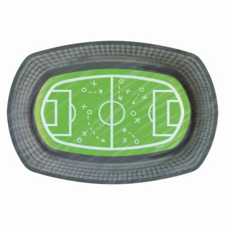 6 Plats en carton idéal pour l'apéro devant un match de foot Dimensions: 24cm x 16cm