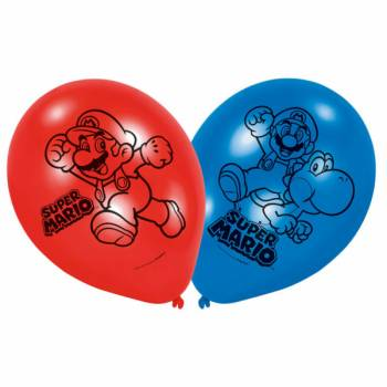 6 Ballons latex Mario Bros
