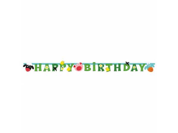 Banderole Happy Birthday La Ferme- deco anniversaire