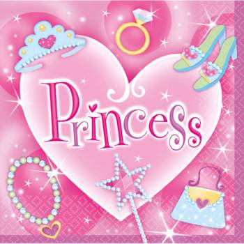 16 Serviettes Princesse Fashion